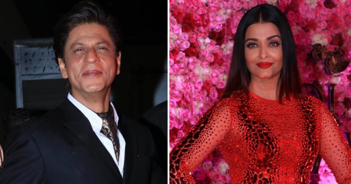 Shah Rukh Khan and Aishwarya Rai at Lux Golden Rose Awards.