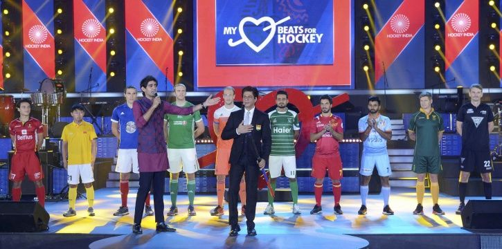 Shah Rukh Khan with hockey stick at Hockey World Cup 2018 Opening Ceremony.
