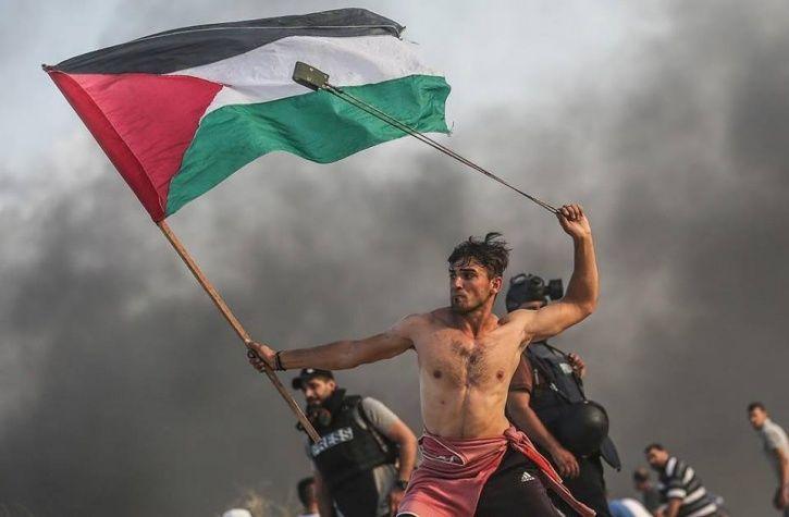 Shirtless Ghaz Protester
