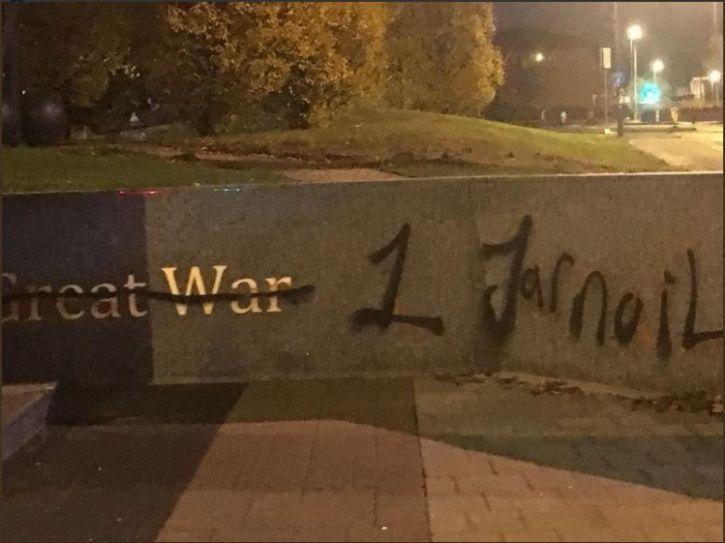 sikh statue, war memorial, Smethwick, Birmingham, United Kingdom, vandalise, jarnail singh Bhindranw