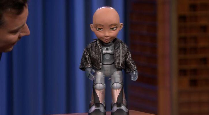 Sophia robot Jimmy Fallon