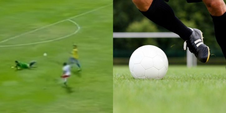 This goalkeeper saved the ball outside the box