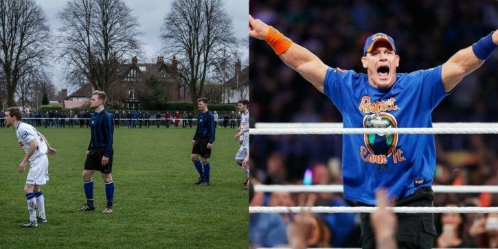 This mash up of Sunday League football and WWE commentary is too good
