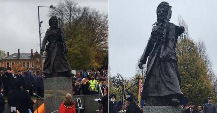 turbaned Sikh soldier Sikh soldier statue UK