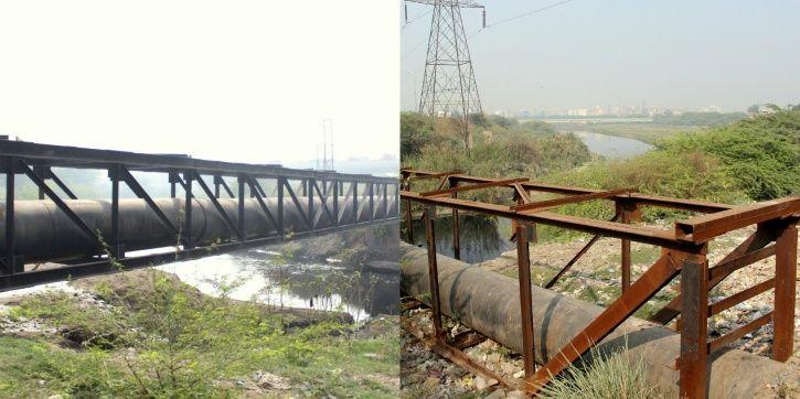 Wazirabad, 11 month old baby, bridge, delhi jal board pipelines, ITO Skywalk, Signature bridge