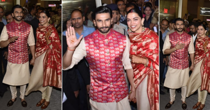 With Smile On Faces & Happiness In Hearts, Ranveer Singh & Deepika Padukone Land In India As Married