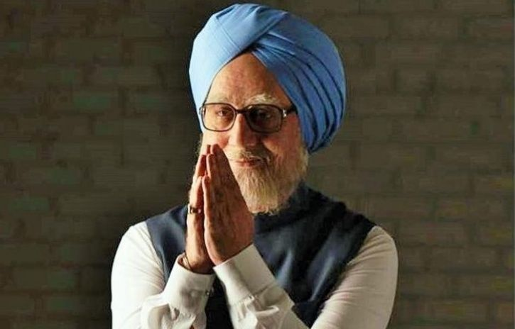 A picture of Anupam Kher as Manmohan Singh.