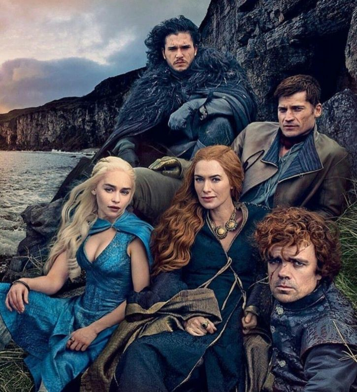 A picture of Game Of Thrones cast members.