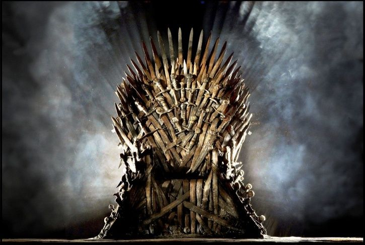 A picture of Iron Throne from Game of Thrones.