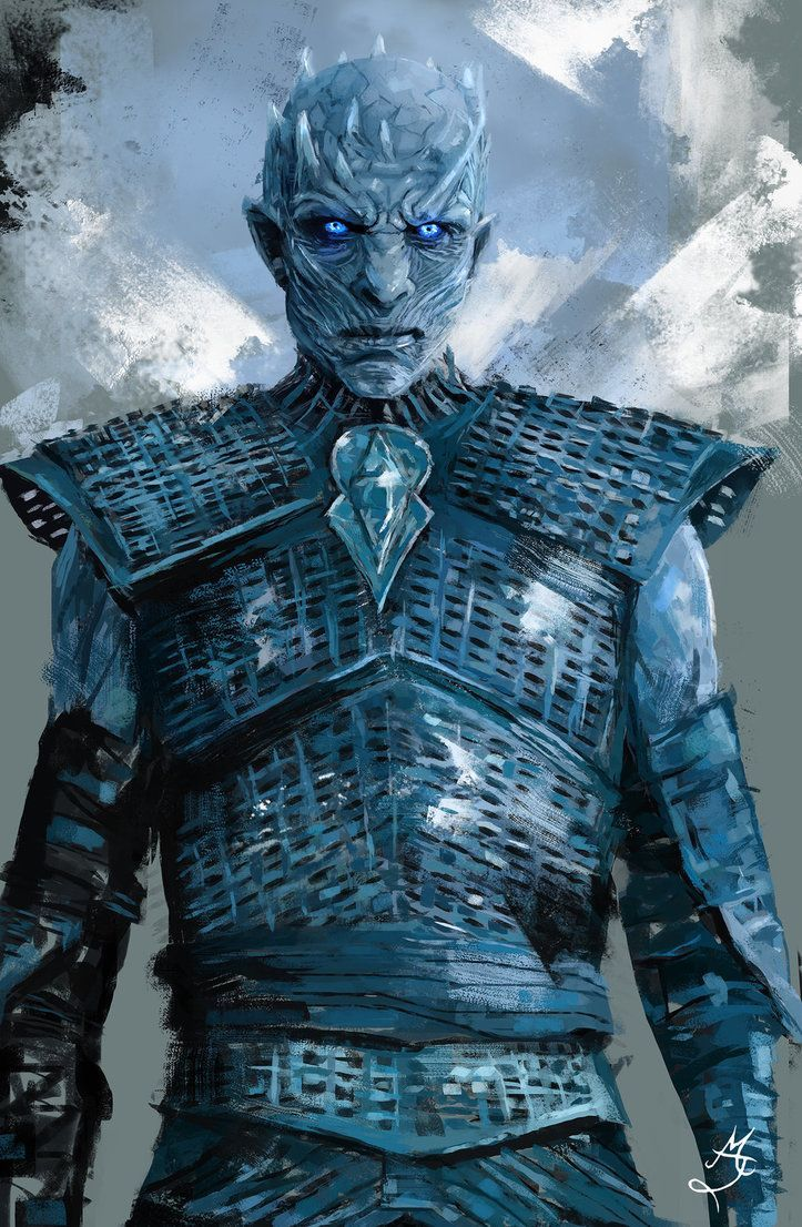 A picture of Night King from Game of Thrones.