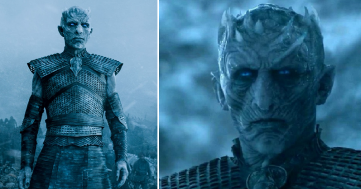 A picture of Night King from Game of Thrones season 8.