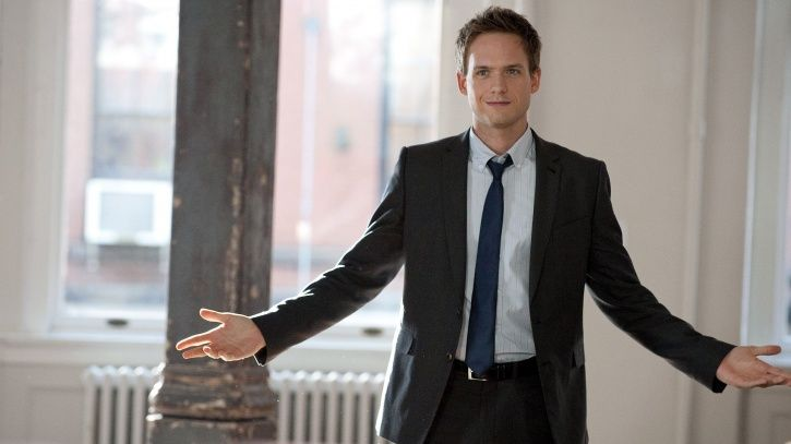 A picture of Patrick J Adams AKA Mike Ross from Suits.