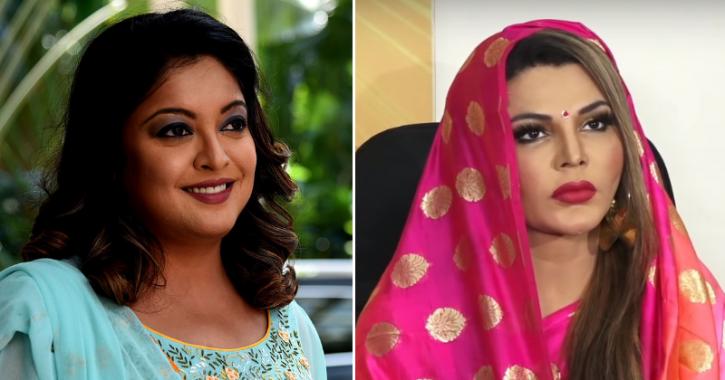 A picture of Rakhi Sawant and Tanushree Dutta