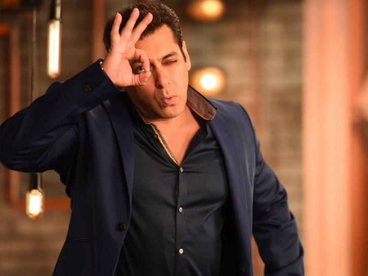 A picture of Salman Khan from Bigg Boss 12 house.