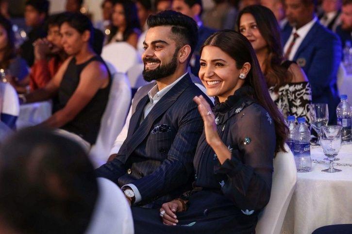 A picture of Virat Kohli and Anushka Sharma.