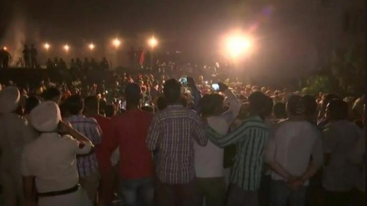 Before Train Rammed Into Crowd In Amritsar, People Stood On Elevated Tracks For Better View