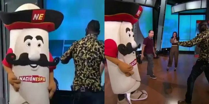 Boxer punched a mascot