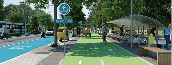 Delhi Bicycle Sharing System, Dwarka Cycle Station