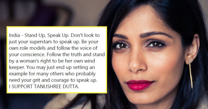 Freida Pinto Lends Support To Tanushree Dutta In A Powerful Post, Urges India To Speak Up