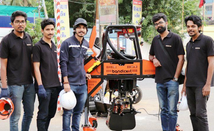 genrobotics bandicoot sewage manhole cleaning robot