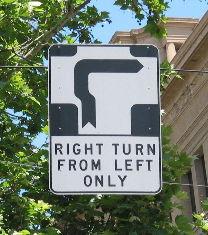 Hook Turn Sign, Melbourne, Australia, Traffic Signal