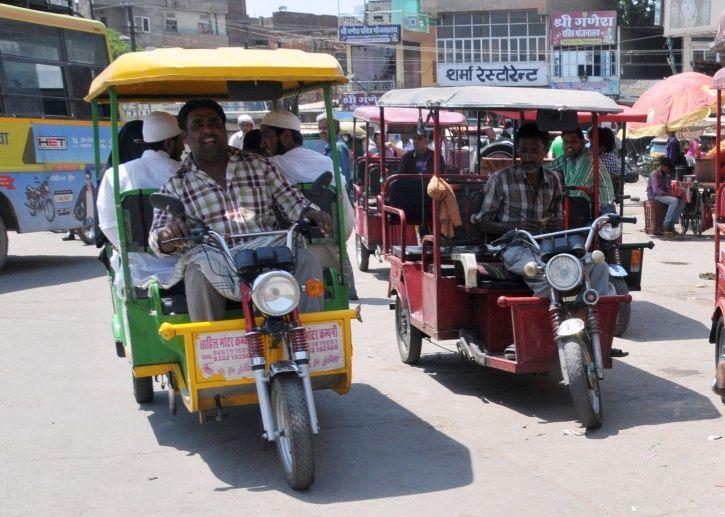 India, China, e-rickshaws, battery powered, faster, pollution, SmartE, financing, three wheelers