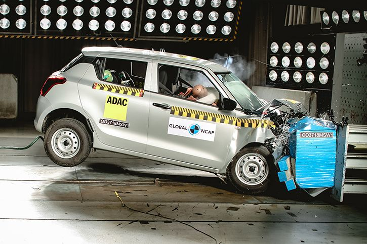 Indian swift unsafe - 2 stars crash rating