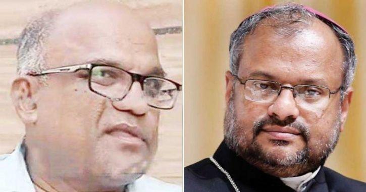 Kuriakose Kattuthara and Bishop Franco Mullakal