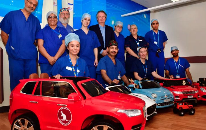 leicester city hospital children electric car
