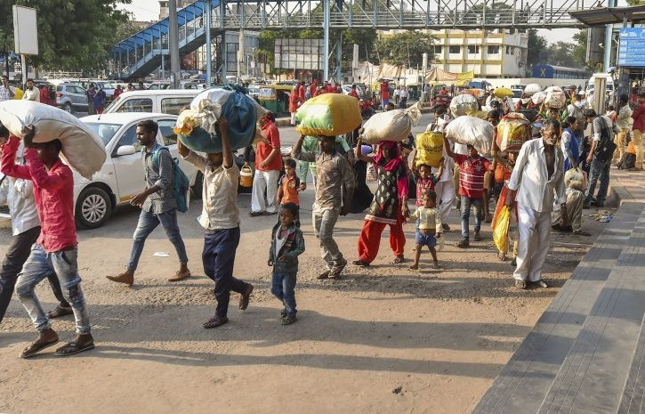 Migrant Workers From UP, Bihar Leave Gujarat
