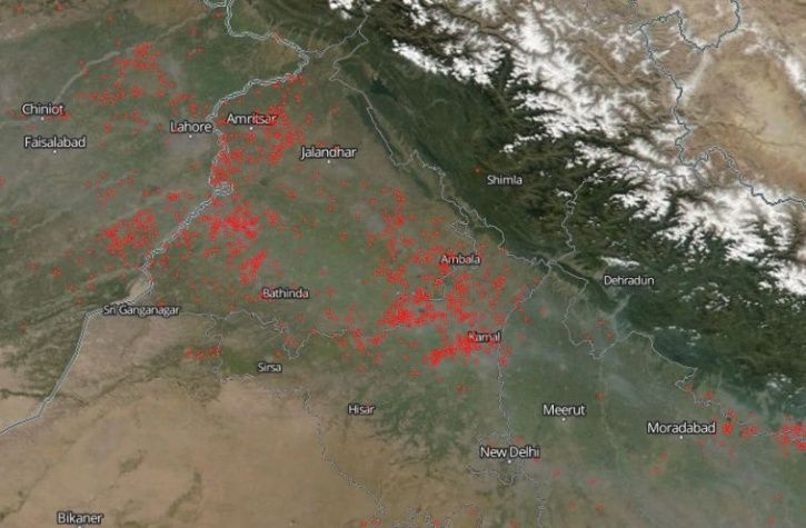 NASA Pictures Show Decline In Stubble Burning In North India, But Don't Cheer Yet
