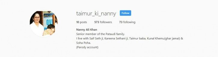 Obsessed With Taimur? His Nanny's Unofficial Instagram Account Will Brighten Up Your Day
