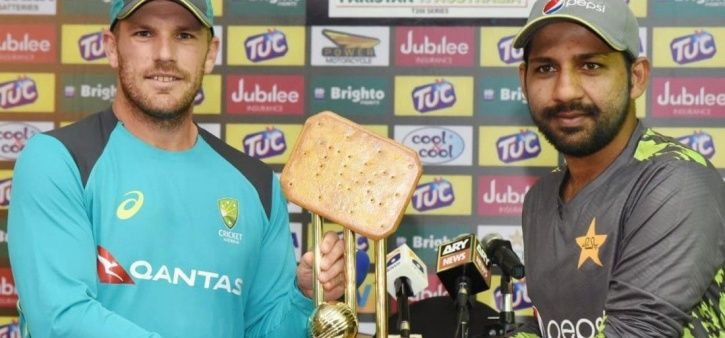 Pakistan and Australia had a trophy like a biscuit