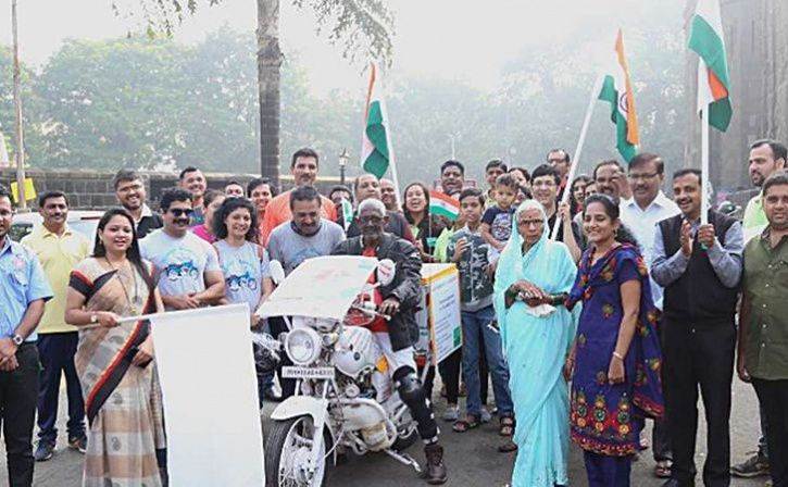 parmod mahajan riding across the country for 100 days to awareness about organ donation