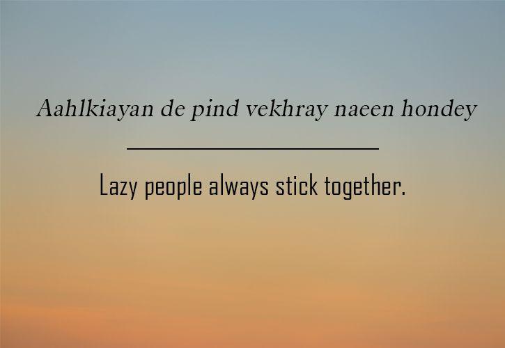 Punjabi sayings