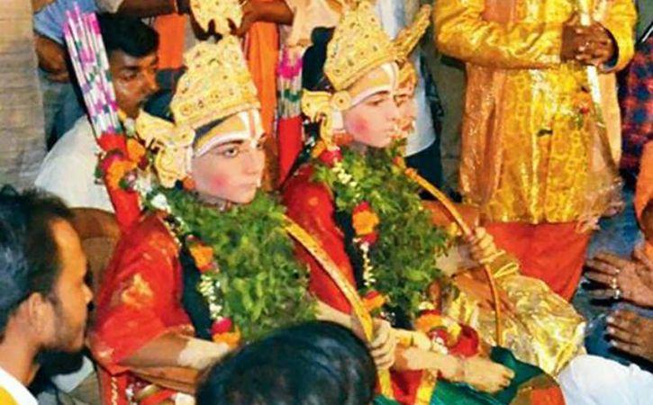ramila delayed as ram and lakshman on dharna
