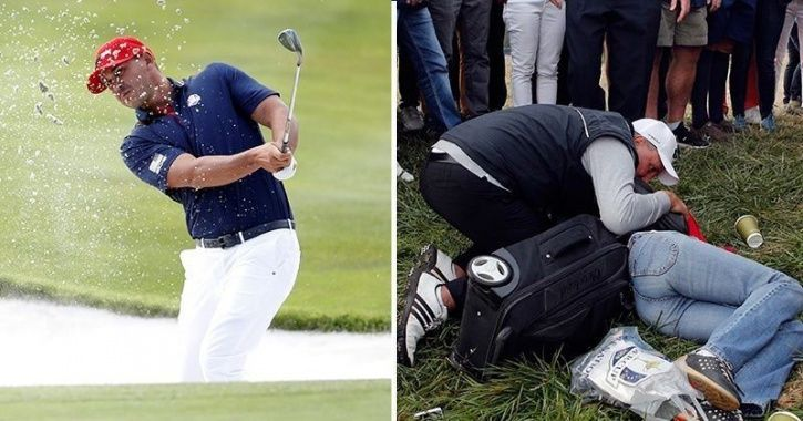 She lost her eyesight after being hit by the golf ball