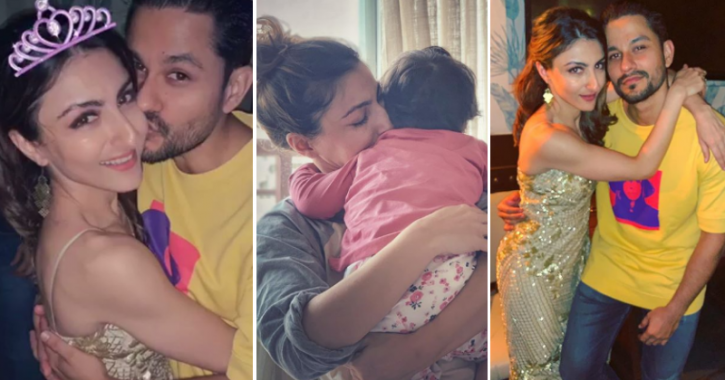Soha Ali Khan Rings In 40th Birthday With A Kiss From Kunal Kemmu & A Special Gift From Inaaya