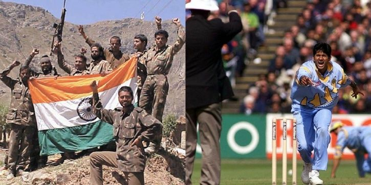 Venkatesh Prasad took 5/27 vs Pakistan