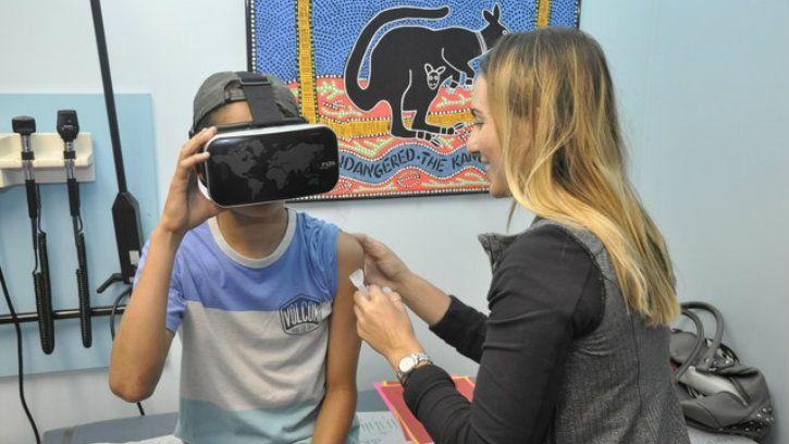VR HMD trial