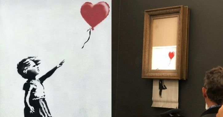 Well Played, Sir! Banksy Artwork Self-Destructs Right After Being Auctioned Off For $1.2 Million
