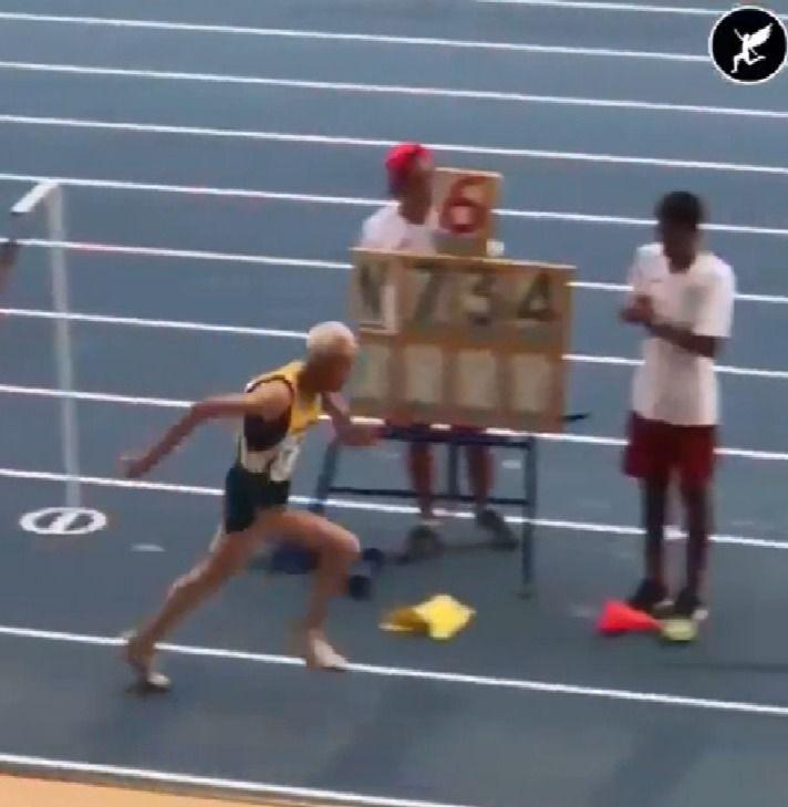 90 year old triple jump