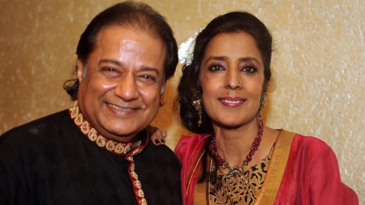 A picture of Bigg Boss 12 contestant Anup Jalota and his thrid wife Medha.