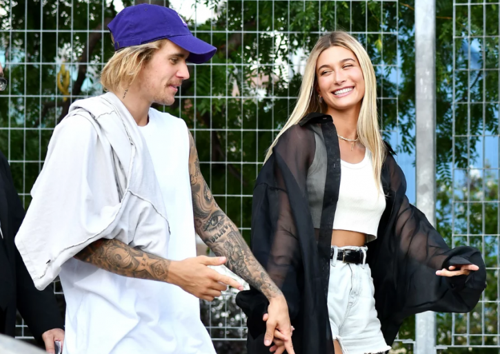 a picture of Justin Bieber and Hailey who are reportedly married.
