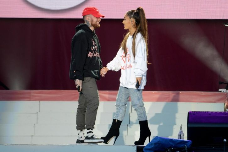A picture of Mac Miller and Ariana Grande who dated for two years before their break-up.