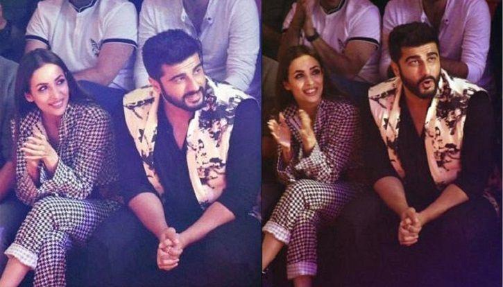 A picture of Malika Arora Khan and Arjun Kapoor who are apparently dating hinting Karan Johar.