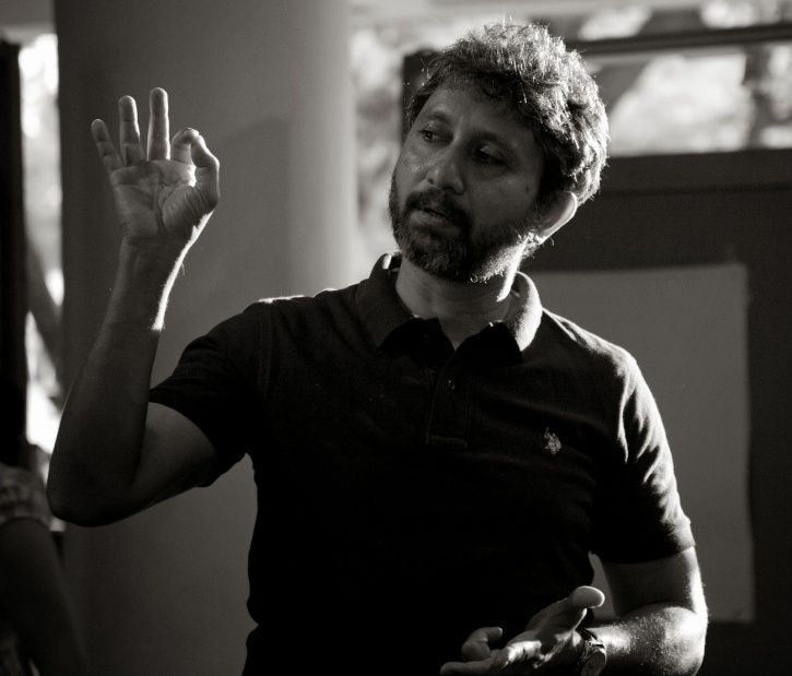 A picture of Neeraj Kabi who is an actor and a theatre artiste too.