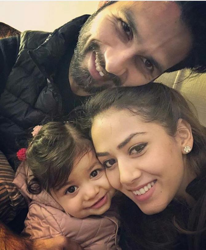 A picture of Shahid Kapoor and Mira Rajput.