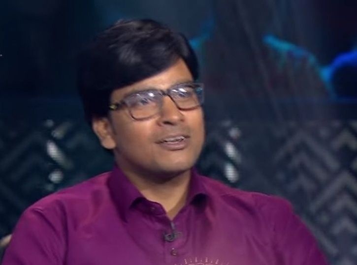 A picture of Somesh Choudhary from KBC.