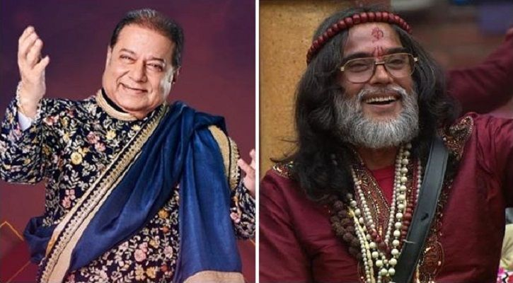Bigg Boss 12 contestant Anup Jalota and Swami Om.